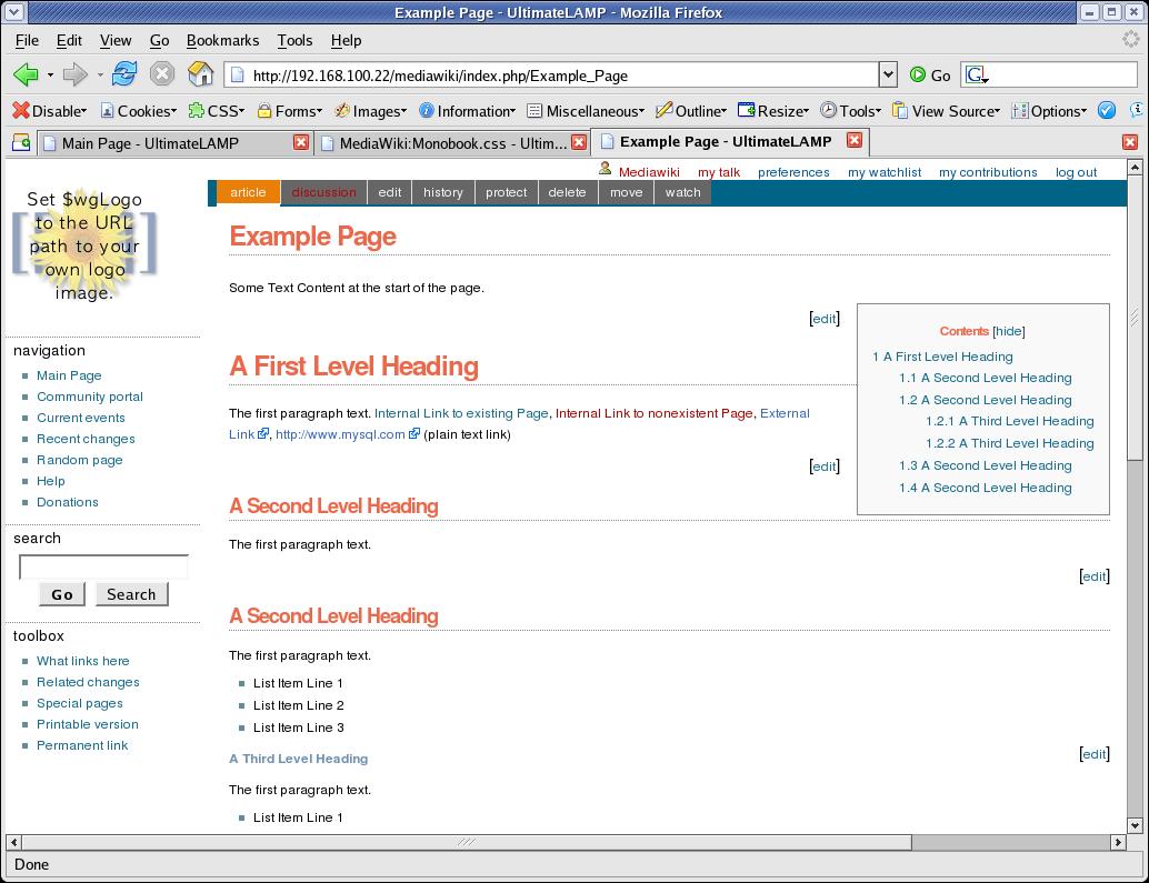 Restyling A Mediwiki Installation Lesson 1
