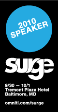 Surge 2010 Speaker - Baltimore, MD