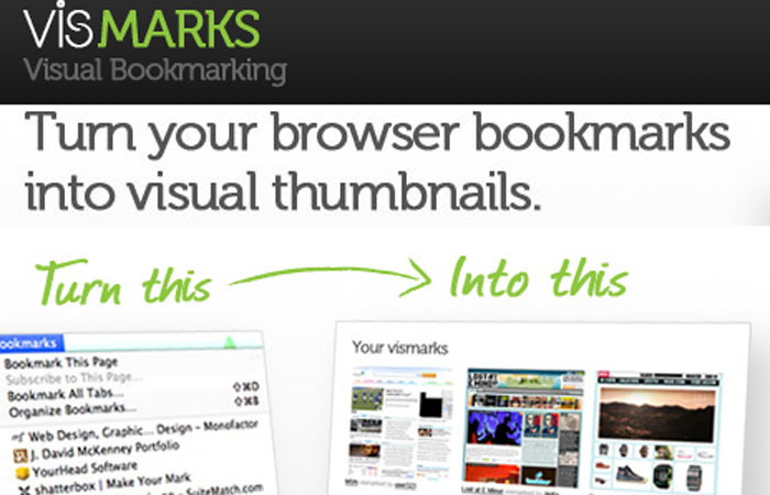 VisMarks - Turn your browser bookmarks into visual thumbnails